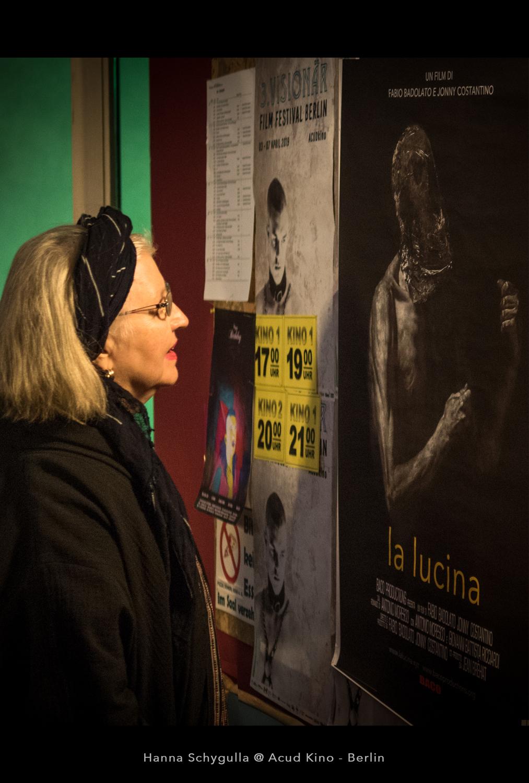 Hanna Schygulla in Berlin for the screening of La lucina